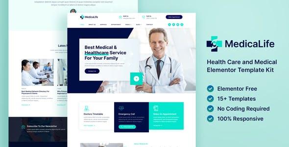 MedicaLife – Health Care & Medical Elementor Template Kit