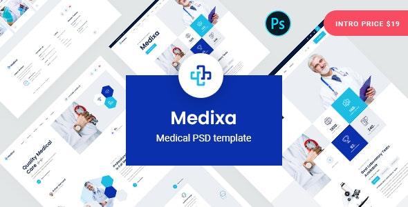 Medixa - Medical PSD Template - Health & Beauty Retail