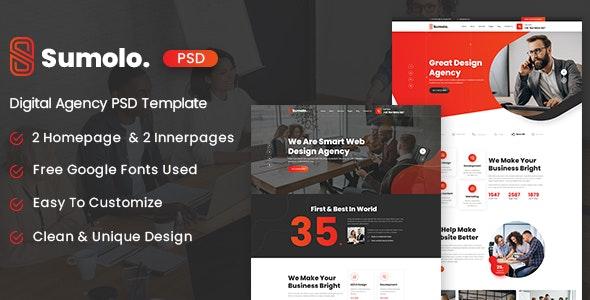 Sumolo - Digital Agency PSD Template - Business Corporate