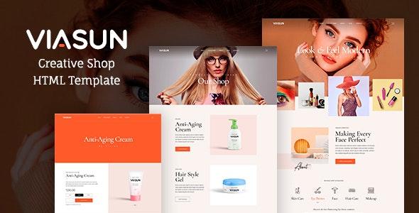Viasun - Creative Cosmetic Store HTML - Health & Beauty Retail