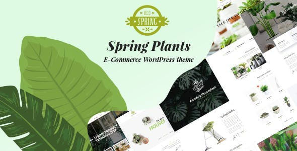 Spring Plants - Gardening & Houseplants WordPress Theme
