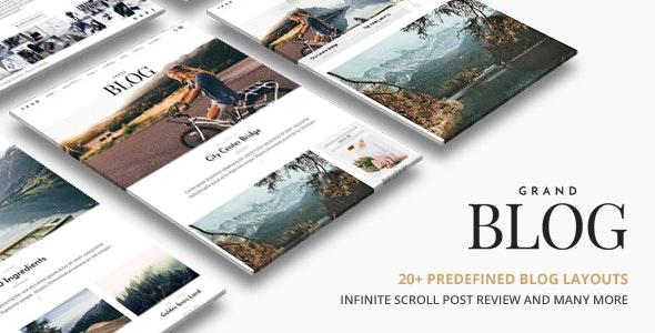 Grand Blog WordPress - Personal Blog / Magazine