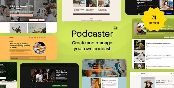 Podcaster - Multimedia WordPress Theme