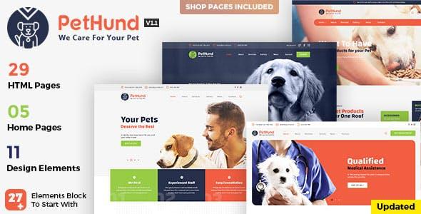 Pet Hund - Animals Shop & Veterinary HTML Template