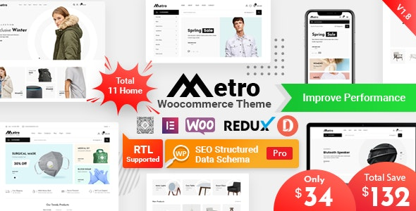 Metro – Minimal WooCommerce WordPress Theme - WooCommerce eCommerce