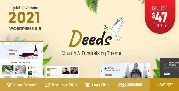 Deeds - Best Responsive Nonprofit Church WordPress Theme - Churches Nonprofit