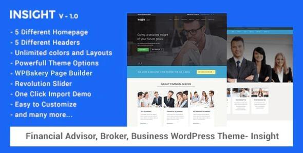 Financial Advisor, Business WordPress Theme - Insight - Miscellaneous WordPress