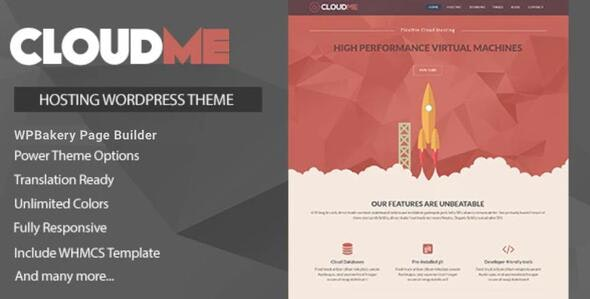 Cloudme Host - WordPress Hosting Theme - Hosting Technology