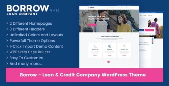 Borrow - Loan Company Responsive WordPress Theme - Business Corporate