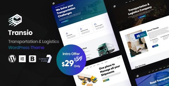 Transio - Transportation & Logistics WordPress Theme - Business Corporate