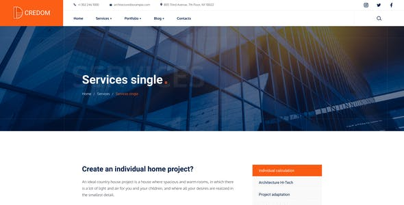 Credom - Construction PSD Template