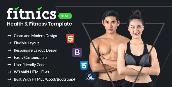 FITNICS - Health & Fitness HTML Template