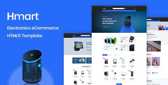 Hmart - Electronics eCommerce HTML Template