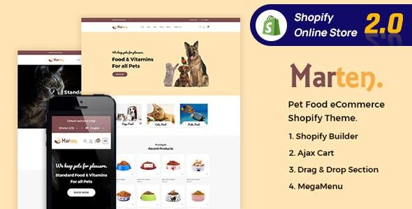 Marten - Pet Food, Pet Shop, Animal Care Shopify Theme