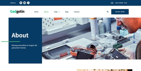Gadgetin - Smartphone & Computer Repair Elementor Template Kit