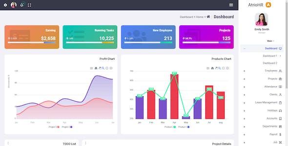 Atrio - Bootstrap 5 Human Resource Admin Dashboard Template