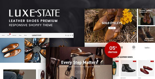 LuxeState - Leather Shoes Premium Shopify Theme