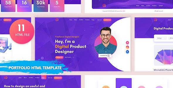 Readora - Portfolio HTML template - Portfolio Creative