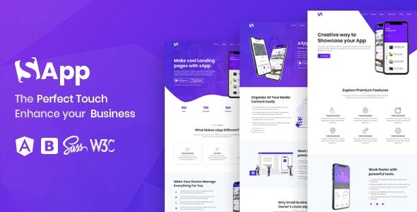 Sapp - Angular 12 App Landing Page - Software Technology