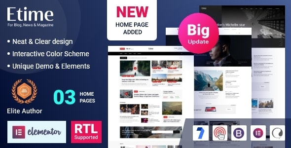 Etime - Blog & Magazine WordPress Theme - Blog / Magazine WordPress