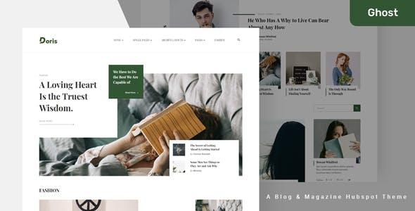 Doris - Blog and Magazine Ghost Theme