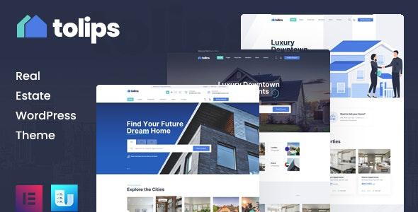 Tolips - Real Estate WordPress Theme - Real Estate WordPress