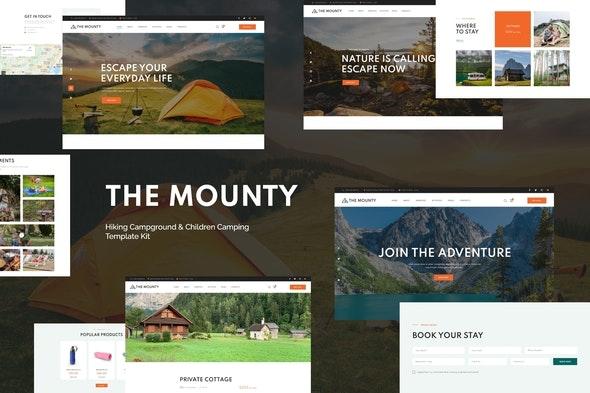 Mounty | Hiking Campground & Children Camping Template Kit - Travel & Accomodation Elementor