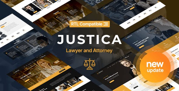 Justica - Lawyer, Attorney and Law Firms Website Template