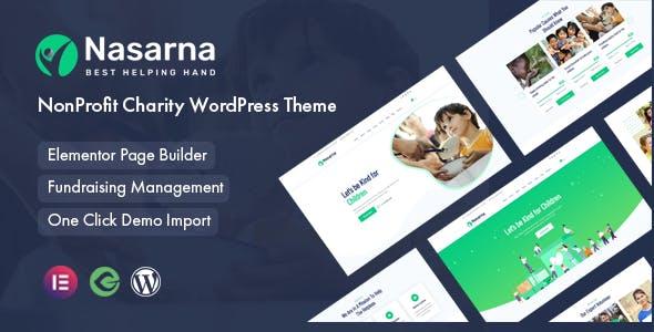 Nasarna - NonProfit Charity WordPress Theme