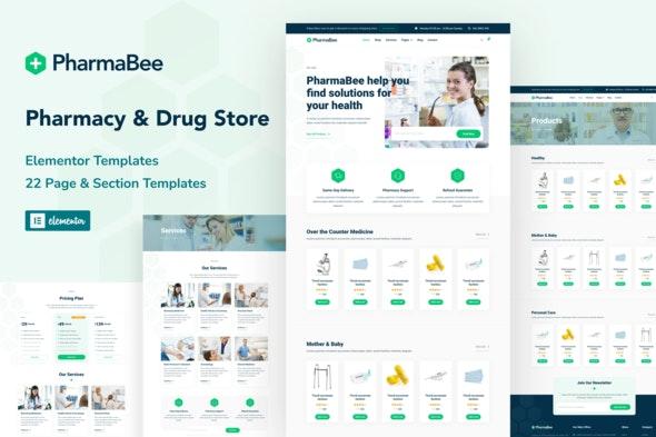 PharmaBee - Pharmacy & Drug Store Website Elementor Template Kit - Health & Medical Elementor