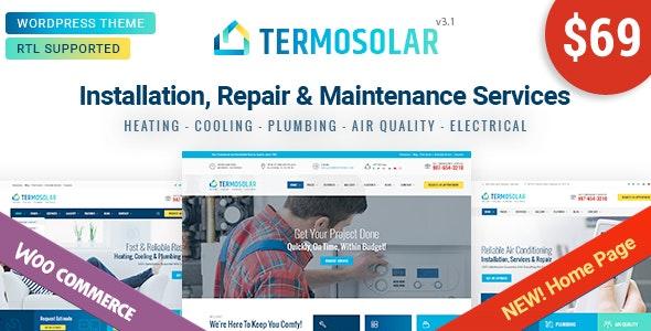 Termosolar - Maintenance Services WordPress Theme - Business Corporate