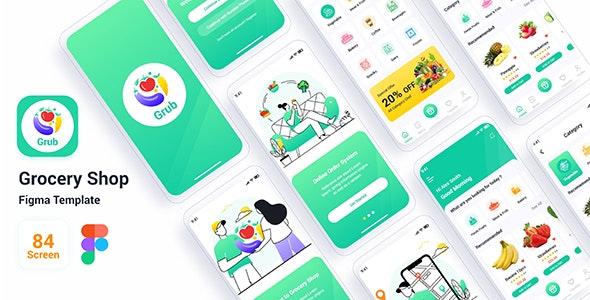 Grub – Grocery Shop Figma Template - Retail Figma