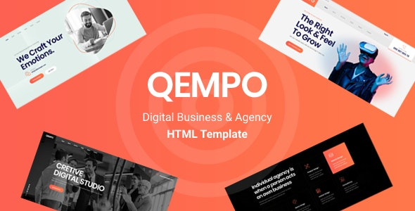 Qempo - Digital Agency Services HTML5 Template - Creative Site Templates
