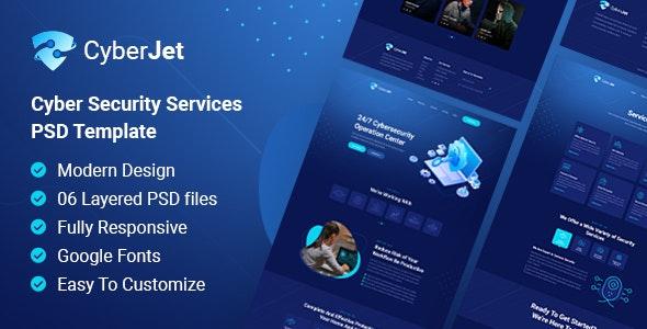 CyberJet | PSD Template - Technology Photoshop