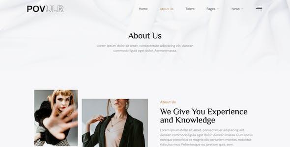 POVULR – Modeling & Talent Agency Elementor Template Kit
