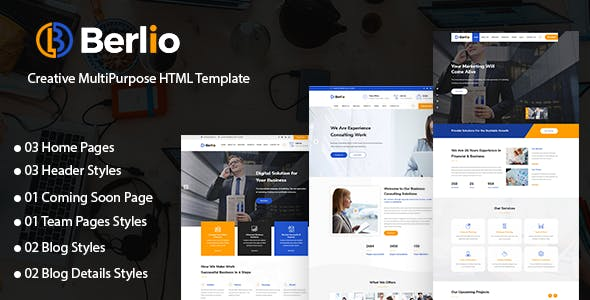 Berlio - Multipurpose Business And Agency HTML Template