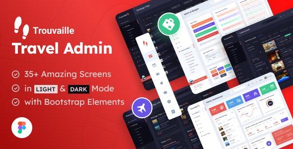Travel Admin   Web App and Dashboard UI Figma Template - Travel Retail