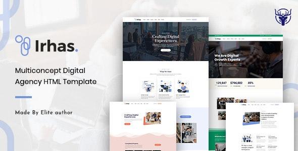 Irhas | Digital Agency HTML Template - Technology Site Templates