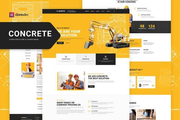Concrete - Construction Elementor Template Kit - Real Estate & Construction Elementor