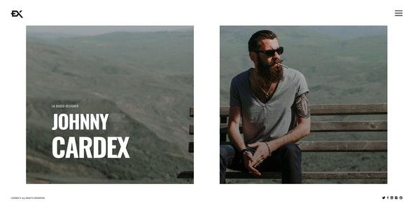 Cardex - One Page Portfolio Template - Portfolio Creative