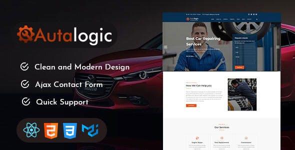 Autalogic - Car Repair Services React Template