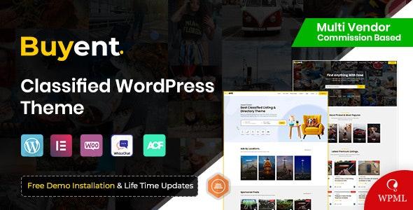 Buyent - Classified WordPress Theme - Directory & Listings Corporate