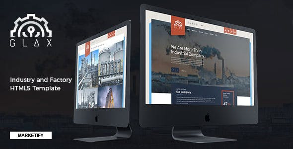 Glax - Industry HTML Template
