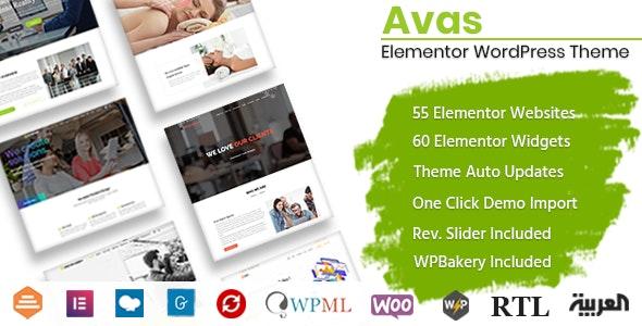 Avas v6.3.0.3 – Multi-Purpose WordPress Theme