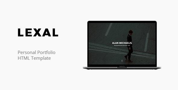 Lexal- Personal Portfolio Template - Virtual Business Card Personal