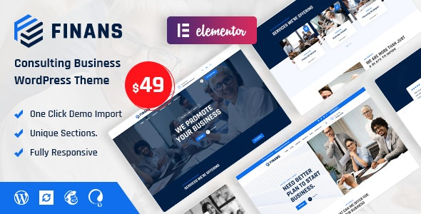 Finans - Consulting Business WordPress Theme - Business Corporate