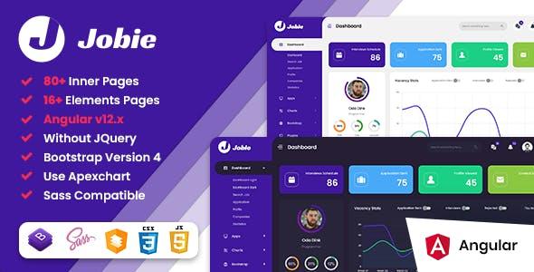 Jobie - Job Portal Angular 12 Admin Dashboard Template