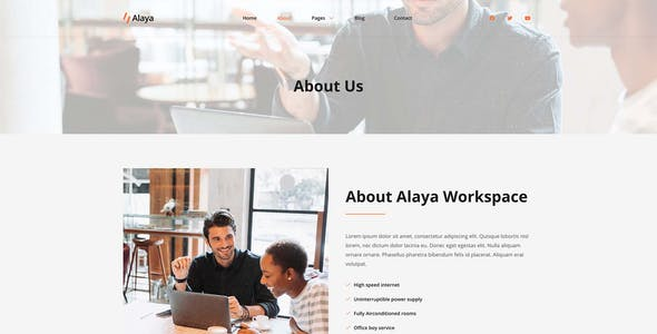 Alaya - Coworking Space Elementor Template Kit