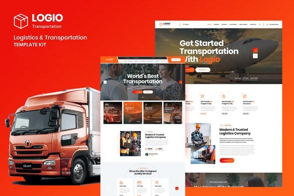 Logio - Logistics & Transportation Elementor Template Kit - Automotive & Transportation Elementor