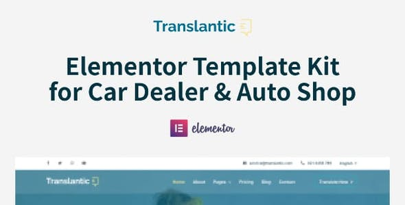 Translantic - Translation Service Agency Elementor Template Kit
